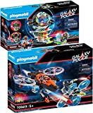 PLAYMOBIL Galaxy Pirates Set de 2 Juegos 70022 70023 Caja Fuerte con Código Secreto + Piratas Helicóptero