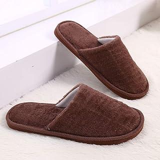 Walmeck Plush Slippers Home Use Cotton Anti-skidding Baboosh Indoor Warm-Keeping Comfortable Couples Chinela