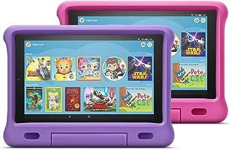 "Fire HD 10 Kids Edition Tablet 2-Pack, 10"" HD Display, 32 GB, Kid-Proof Case - Purple/Pink"