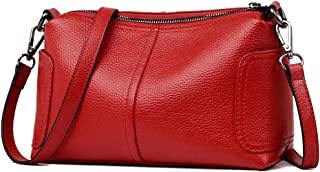 Women's Messenger Bag, Shoulder Bag, Small Capacity for Wallet, Leather Material, Simple and Stylish, Suitable for Dating,Red