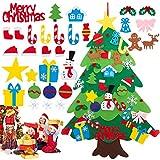 OFZVEO Árbol de Navidad de Fieltro, DIY Adornos Árbol de Navidad, 32pcs los Ornamentos...