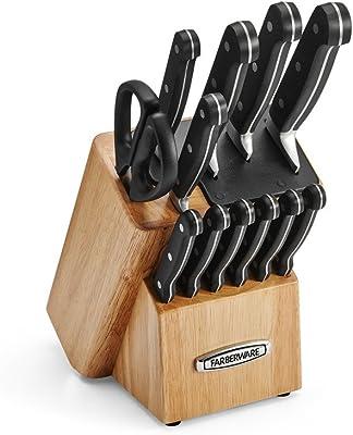 Farberware autoafilables 13piezas Juego de cuchillos con tecnología edgekeeper, Natural