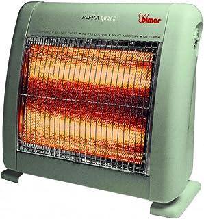 Bimar S213.EU - Calefactor (Calentador halógeno, Piso, Gris, Metal, De plástico, Botones, 1000 W)
