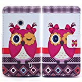 Bfun Packing Hot Pink Owl Girl Wallet PU Leather Cover Case for Nokia Lumia 520