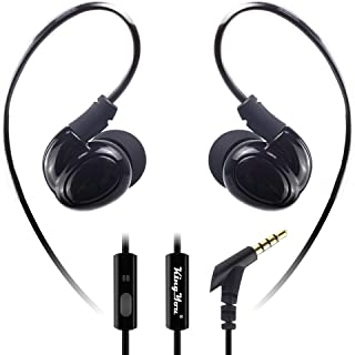 Wired Sport Earbuds in-Ear Headphones Noise Isolating Over Ear Earhook Kingyou Headphones Ergonomic Comfort-Fit for Workout Running Gym Sports & Exercise KP05 Black