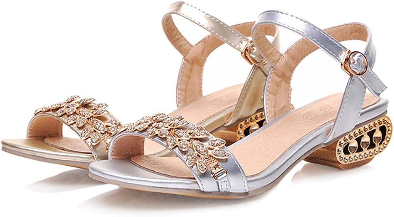 YVWTUC Comfort Sandals Fashion Medium Heels Womens Beach shoes Leisure
