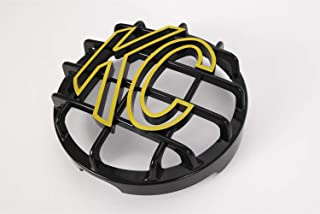 "KC HiLiTES 72101 Black ABS Stone Guard (with Yellow KC Logo for 6"" Lights (ea))"