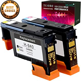 Tuobo 2 Pack HP940XL 940 Printhead for HP Officejet Pro 8000 8500 Hp 940 Print Head C4900A C4901A for HP Officejet Pro 8000 8500 8500A 8500A Plus 8500A