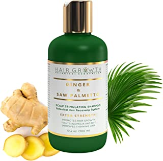 Hair Growth Shampoo Step 2: Ginger - Saw Palmetto Lab Formulated Anti-Hair Loss