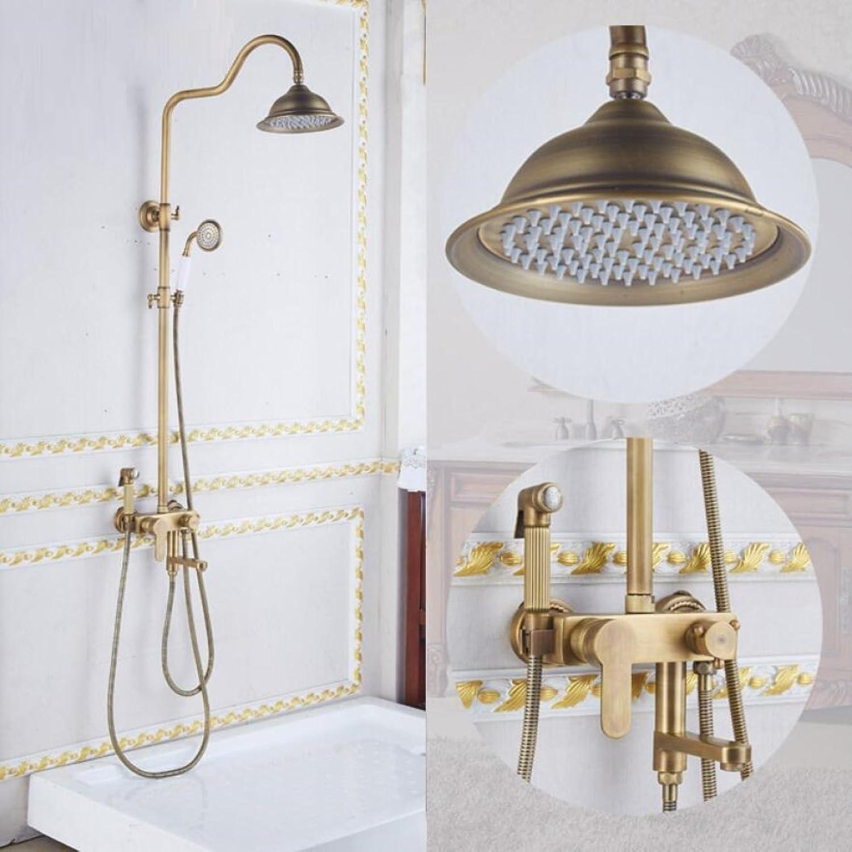 LyMei Messingregendusche-System-Wand Mouthed mit Regenduschkopf 8 Zoll - justierbarer Duschehalter für Badezimmer-Dusche-Satz, Bidet-Sprüher,A