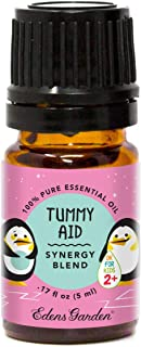 """Edens Garden Tummy Aid""""OK For Kids"""" Essential Oil Synergy Blend, 100% Pure Therapeutic Grade (Child Safe 2+, Digestion & P..."""