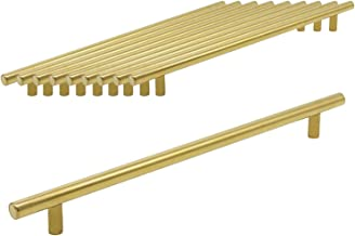 4 PCS Gold Stainless Steel Keukenkast T Bar Handle Furniture lade trekt Cuoboard Knoppen PD1123HGD256 (256mm Hole centra /...