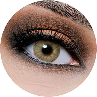 Lareen Jewel Contact Lenses, Unisex Lareen Cosmetic Contact Lenses, 6 Months Disposable, Jewel Honey Color