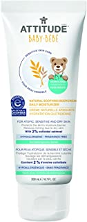 Attitude Natural Soothing Body Cream - Daily Moisturizer Baby, Fragrance Free, 6.7 Fluid Ounce