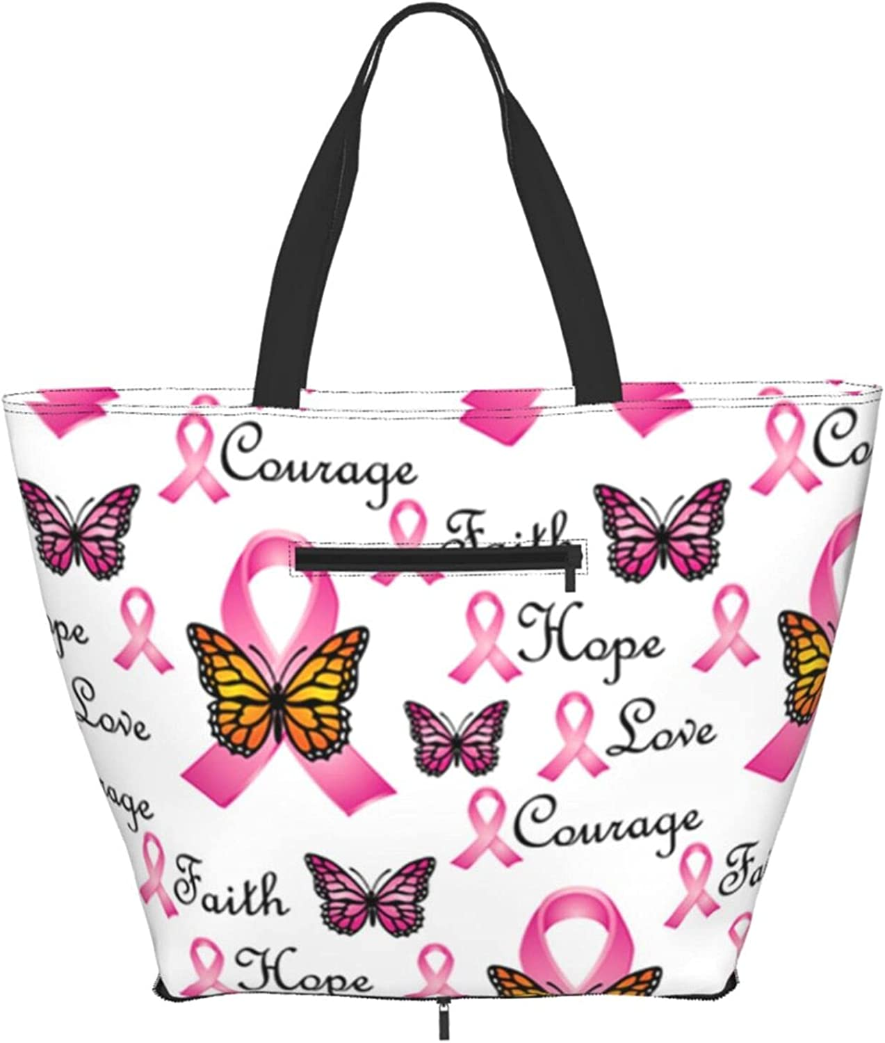 Shoulder Tote Bag Faith Pink Purse Butterfly Ribbons Handle Today's Max 86% OFF only Top