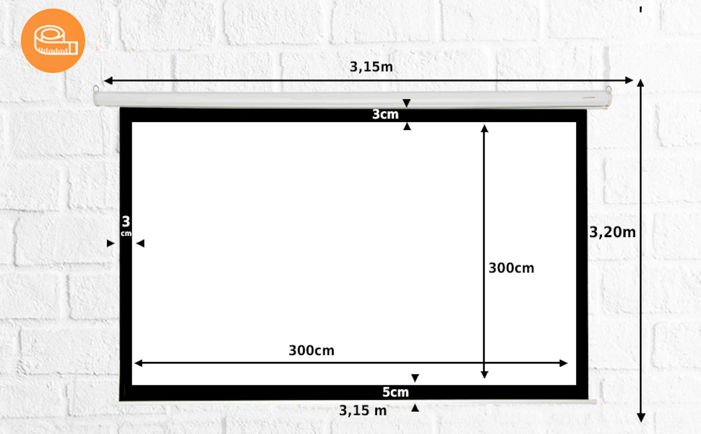 Pantalla de proyección Manual Mural de 169
