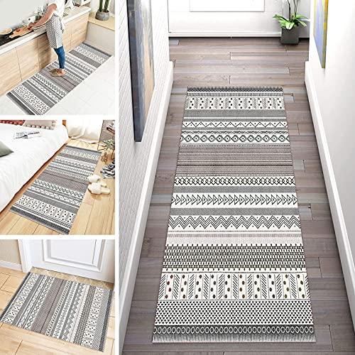 ZDYHMrj Alfombra de Pasillo Cocina Antideslizante Diseño Moderna Marruecos Larga Lavables Geometría Alfombra Corredera Habitacion Infantil Corredores De Pasillo Extralargos, Balcón Hotel Entrada