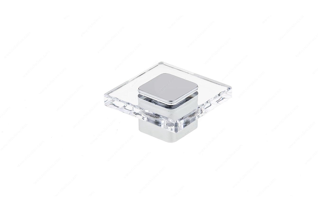 Richelieu BP3993404014011 Contemporary Acrylic and Metal Knob - 3993