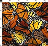 Schmetterling, Monarch, Orange, Handgemalt, Batik Stoffe -