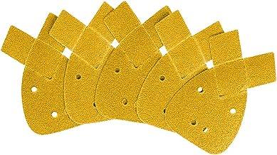 50 Pack Schuurvellen Schuurpapier, 60/80/120/240/400 Grits om zwart en Decker Detail Palm Sander, Geel