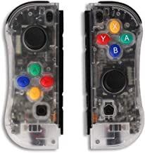 Railay NS Switch Joy Pad Controllers-Left and Right Controllers for Switch as a Joy Con Controller Replacement (Transparent)