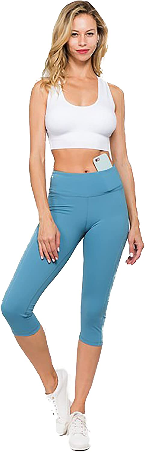 CodeFit Yoga Power Flex DryFit Side Word Printed Compression Pants Workout