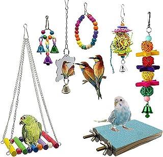 DealMux Vogelspeelgoed, speelgoed voor papegaaien, zittafels, vogelspeelgoed, kleerhangers voor papegaaien, cockatielspeel...
