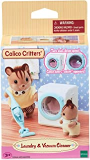 Calico Critters, Doll House Furniture and Décor, Laundry & Vacuum Cleaner