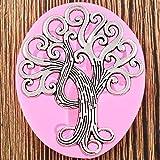 WYNYX Life Tree Cake Border Molde de Silicona Fondant Herramientas de decoración de Pasteles Arcilla polimérica Candy Chocolate Gumpaste Moldes
