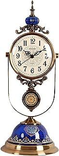 ساعة ساعة مكتب ساعة اليشم الصامت دراسة البندول ساعة شخصية ساعة سطح المكتب الحلي السيراميك المعادن