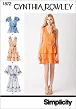 Simplicity Cynthia Rowley Pattern 1872 Misses Pullover Dress or Top and Belt Size 6-8-10-12-14