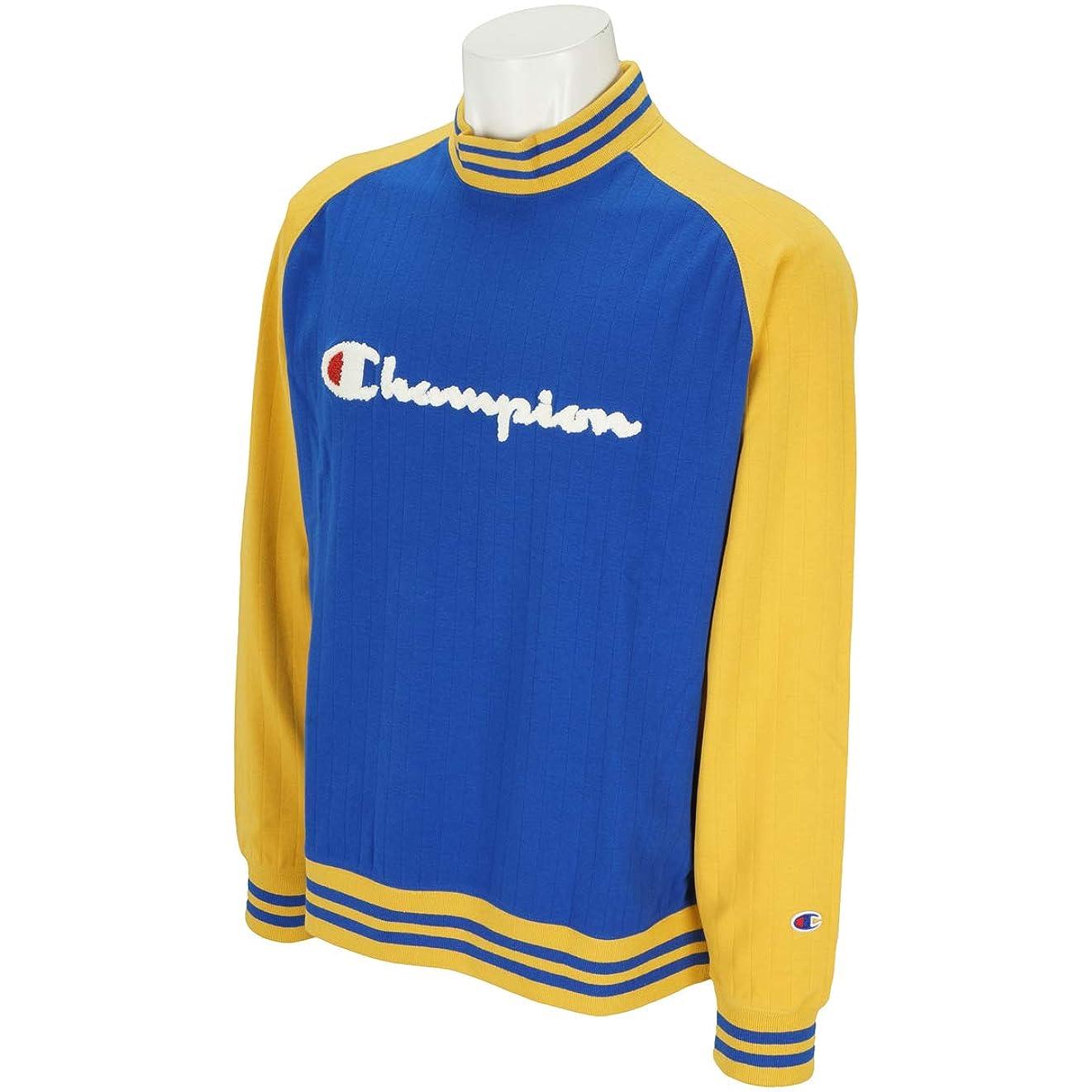 体本当に彼チャンピオンゴルフ Champion GOLF 長袖シャツ?ポロシャツ モックネック長袖シャツ