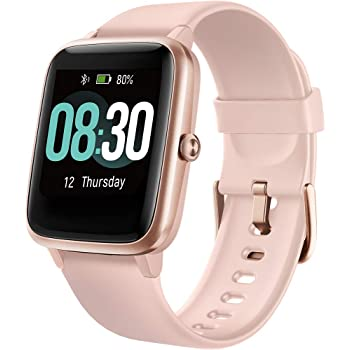 Smartwatch Orologio Fitness Donna, UMIDIGI Uwatch3 Fitness Tracker Bluetooth Smart Watch Donna Uomo Bambini Cardiofrequenzimetro da Polso Contapassi Sportivo Activity Tracker per Android iOS- Oro Rosa