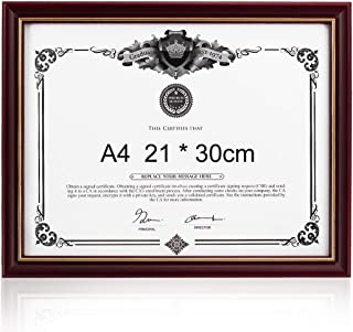 NovoGifts Document Frame Degree Frame Holder Certificate Solid Wood A4 Frame Used in Colleage