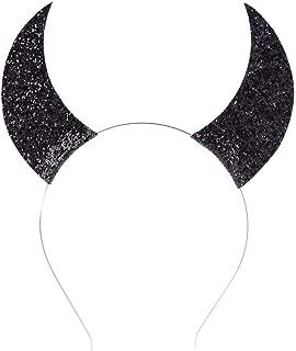 Devil Horns Halloween Headband for Girls Cosplay Costume Dress up Accessories (Black)