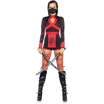 Leg Avenue- Dragón Ninja Mujer, Color negro y rojo, Medium (EUR 38 ...