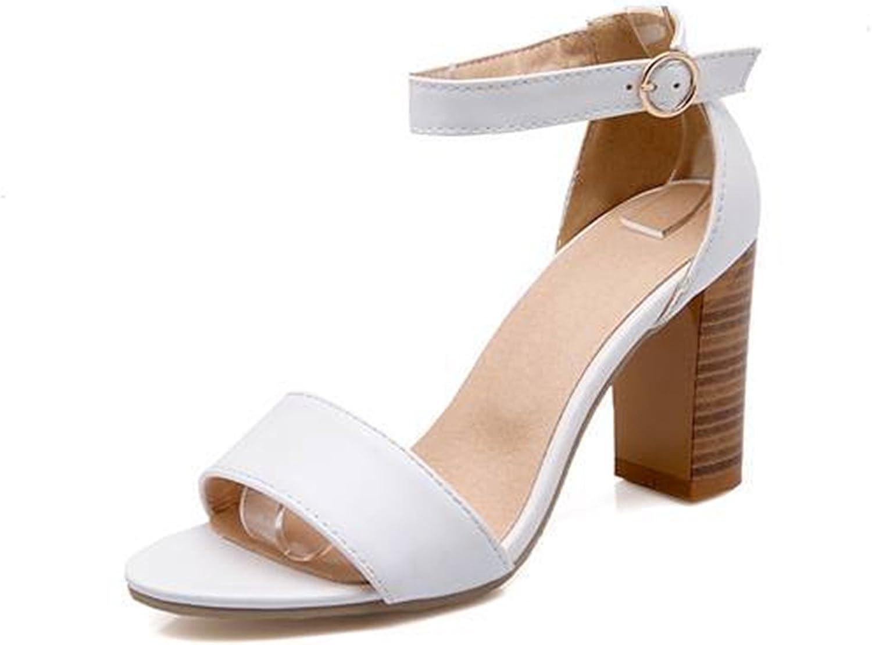 Ladiamonddiva Sandals Pumps Women shoes Summer Solid Sandals high Heels White Black Lady Dress shoes White 12