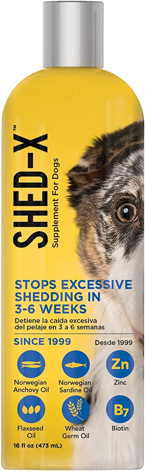 Shed-X Dermaplex Liquid Daily Supplement for Dogs – 100% Natural – Eliminate Excessive Shedding with Daily Supplement of Essential Fatty Acids, Vitamins and Minerals,16 Fl Oz (Pack of 1),FG00516 : Pet Multivitamins : Pet Supplies