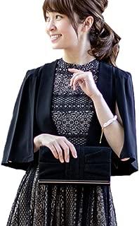 [アウニイ] パーティー ボレロ ジャケット ケープ 袖 フォーマル ジャレロ 羽織り 体型カバー レディース
