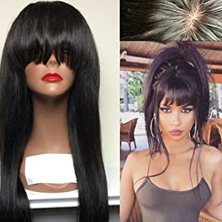 Aopus Hair Virgin Hair Human Lace Front Wig Brazilian Remy Human Straight Hair Lace Wigs with Baby Hair For African Americ...