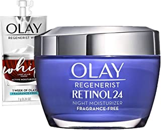 Olay Regenerist Retinol Moisturizer, Retinol 24 Night Face Cream, 1.7oz + Whip Face Moisturizer Travel/Tria...