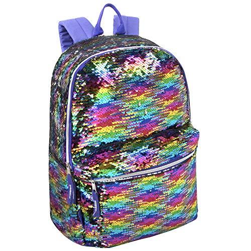 Emma & Chloe Reverse Paillette Glitter rucksäcke - Farbwechsel Rainbow Magic rucksäcke (neonregenbogen)