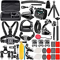 NEEWER 50-In-1 Action Camera Accessory Kit for GoPro 8 GoPro Hero 7 6 5 4 Hero Session 5 Apeman DJI OSMO Action SJ6000...