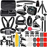 Neewer 50-In-1 Kit di Accessori per Action Camera Compatibile con GoPro Hero 9 8 Max 7 6 5 4 Black GoPro 2018 Session Fusion Argento Bianco Insta360...