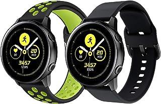 Klockarmband för Galaxy Watch Active 2, 20 mm mjukt silikon sport klockarmband andningsbart ersättningsarmband för Samsung...