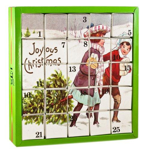 """English Tea Shop - Nostalgie Tee Adventskalender """"Joyous"""", 25 einzelne Boxen mit würzigen BIO-Tees in hochwertigen Pyramiden-Teebeutel"""
