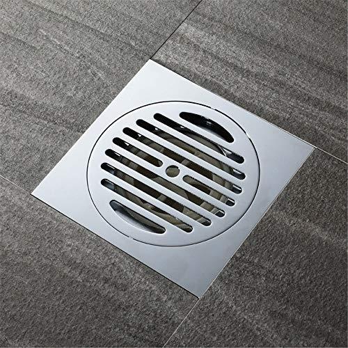 PIJN Bodenablauf Komplette Kupfer Deodorant Großer Displacement Schädlingsbekämpfungs WC Balkon Badezimmer Bodenablauf (Color : Metallic, Size : 150x150x80mm)
