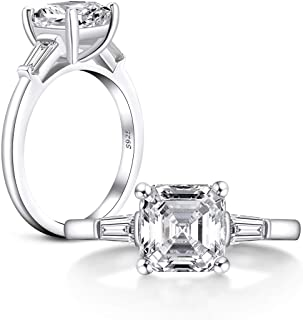 Solitaire Asscher Cut Engagement RingWedding Bridal RingsGift For HerCustom RingProposal Ring2.00 CT Diamond925 Silver14K White Gold