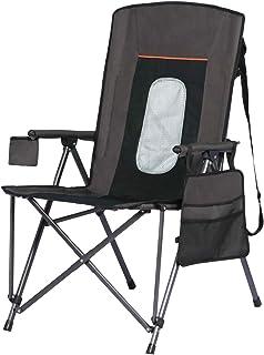 صندلی کمپینگ چهار نفره بزرگ تاشو پورتال جیب نگهدارنده جام پشتی سخت جیب های ذخیره سازی کیف شامل کیف ، پشتیبانی 300 پوند