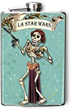 Star Wars Skeleton Princess Leia Day of the Dead Flask 8oz FD426